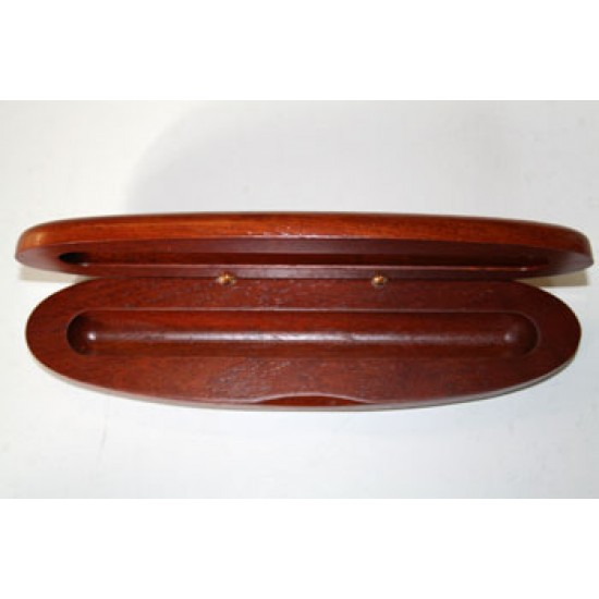 Pen Box Dark Wood Single (Oval)