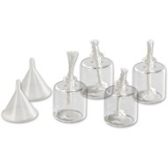 Glass Oil Lamps Pack Of 4