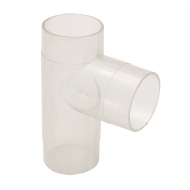 2.5'' Clear Plastic T Fitting
