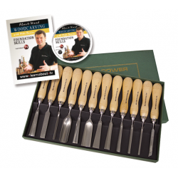 Record 12 Pce. Carving Set With DVD