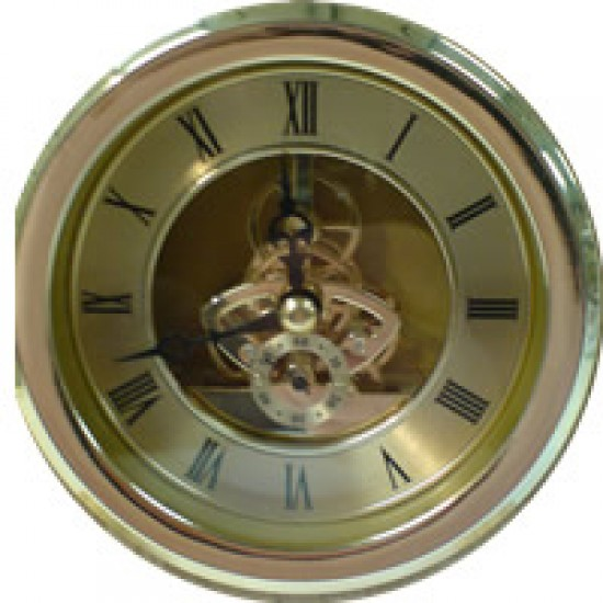 Skeleton Clock 100mm Gold